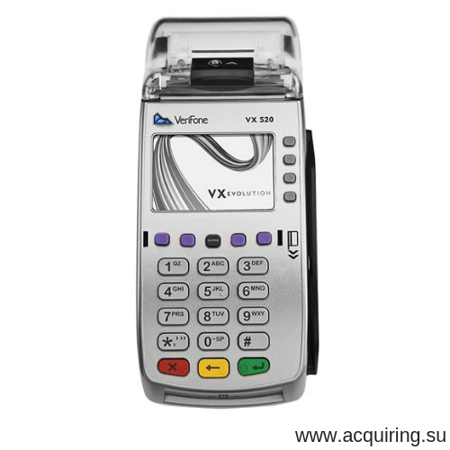 POS-терминал Verifone VX520 (Ethernet - локальная сеть), комплект Прими Карту в Оренбурге